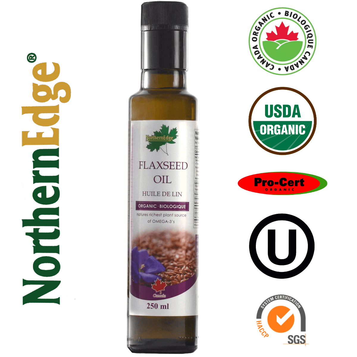 Organic Flaxseed Oil - 250 ml